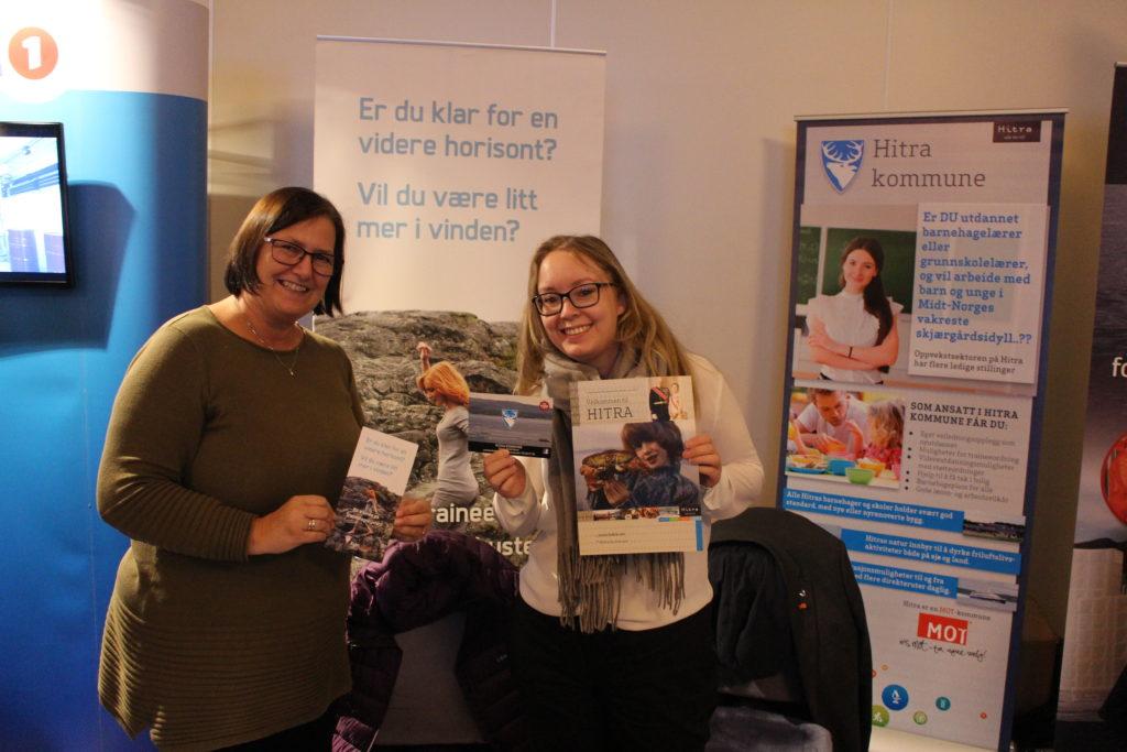 Hitra kommune var representert ved Line Røkenes fra personalseksjonen og Kari E. Mathisen fra Kysttrainee.