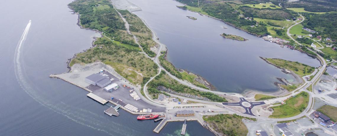Visste du at Hitra industripark er en av de største industrisatsinger i Midt-Norge i nyere tid