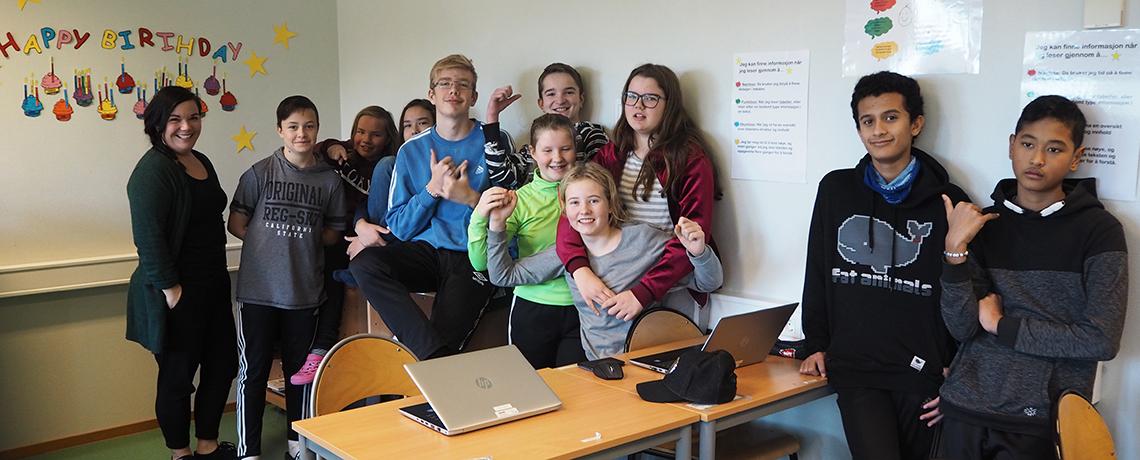 Elever og lærere godt fornøyd med resultatene fra årets nasjonale prøver