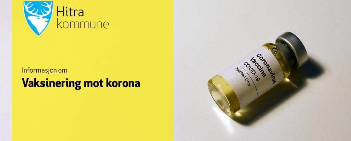 Informasjon om massevaksinering mot korona i Hitra kommune